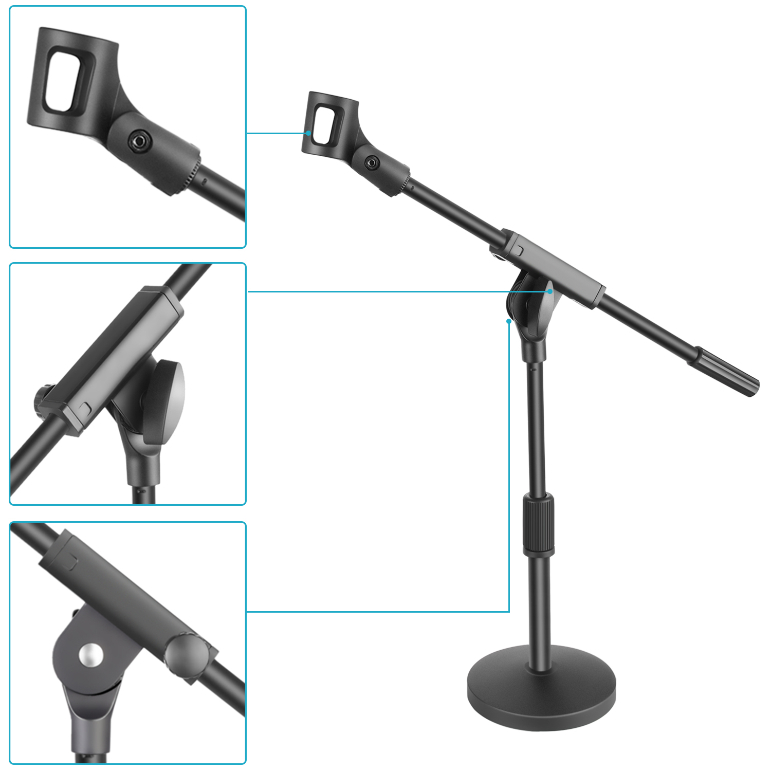 Neewer Short Desktop Microphone Stand With 5 5 Quot Heavy Duty