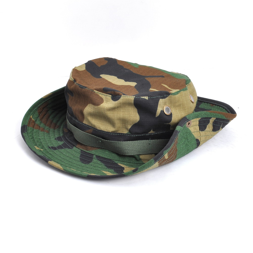 Details about Woodland Camo Military Boonie Hunting Army Fishing Bucket  Jungle Cap Hat Size L e53af984501a